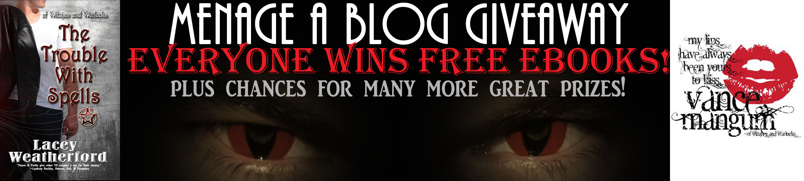 Menage a Blog!  A HOT guy & free books,… what's not to love?!